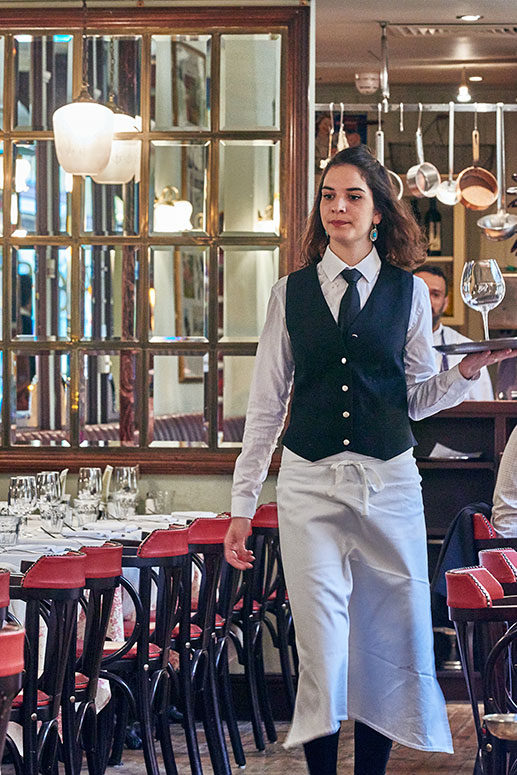 Luc's waiting staff